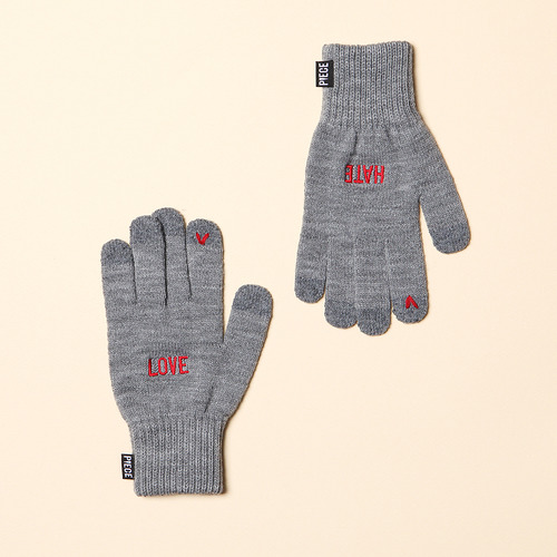 [착한장갑] LOVE HATE SMART GLOVE (GREY)