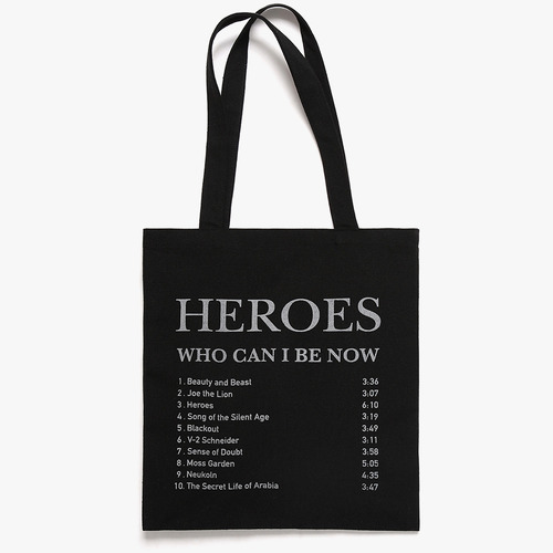 HEROES TRACK LIST ECO BAG (BLACK)