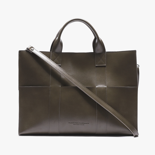 LEATHER 3WAY POCKET BAG (OLIVE)