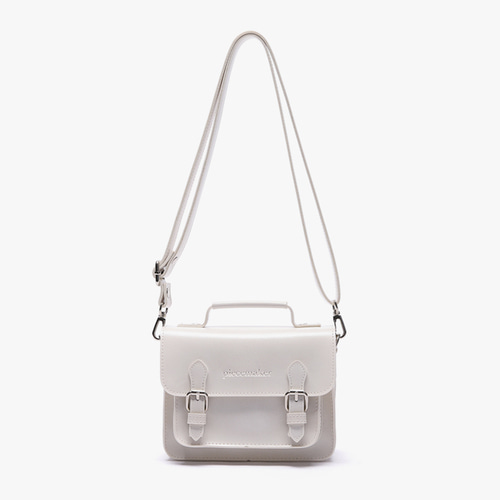 LEATHER SATCHEL BAG MINI (IVORY)