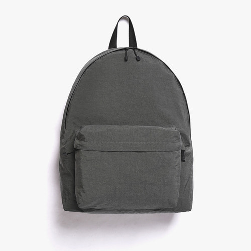 SHIRRING NYLON BACKPACK (CHARCOAL)