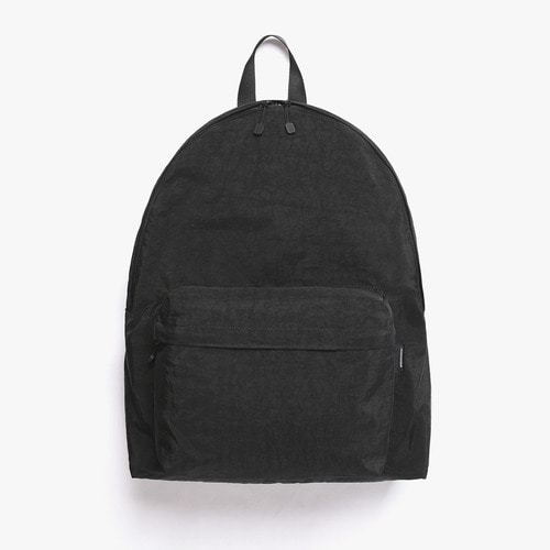 SHIRRING NYLON BACKPACK (BLACK)