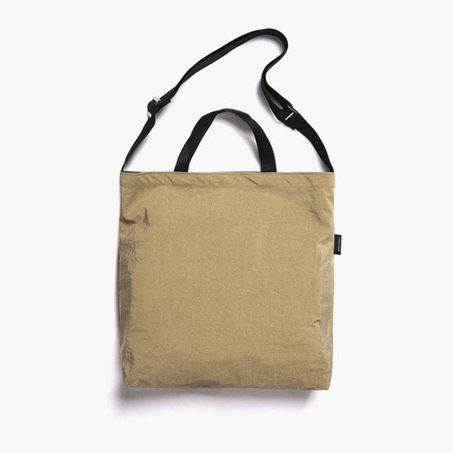 SHIRRING NYLON 3WAY BAG (BEIGE)