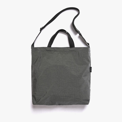 SHIRRING NYLON 3WAY BAG (CHARCOAL)