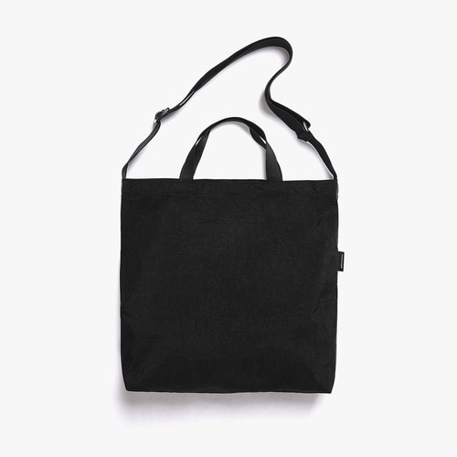SHIRRING NYLON 3WAY BAG (BLACK)