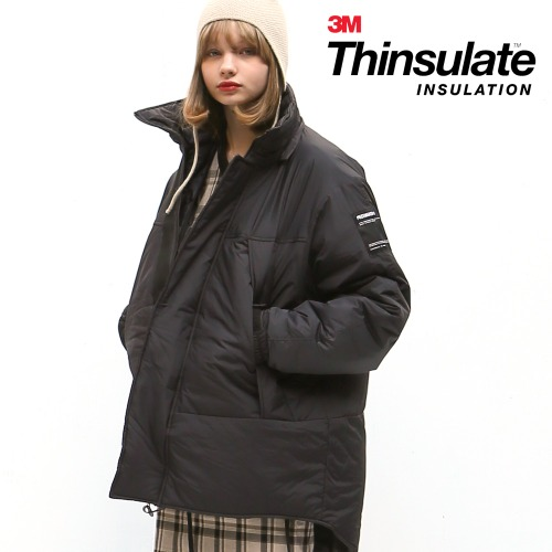 HOODED MONSTER PARKA (BLACK)