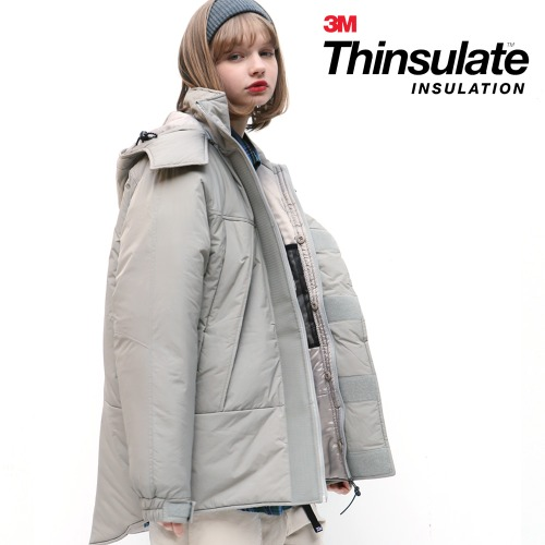 HOODED MONSTER PARKA (GREY)