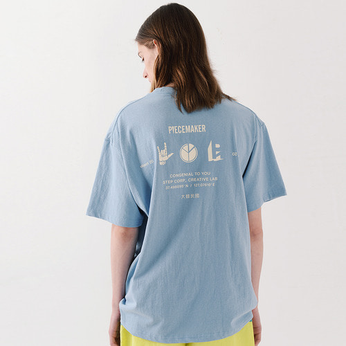 PM ICON TSHIRTS (SKY BLUE)