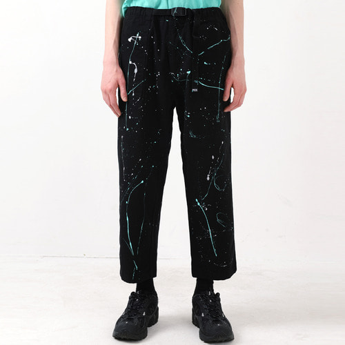 PAINTING FATIGUE EASY PANTS (BLACK)