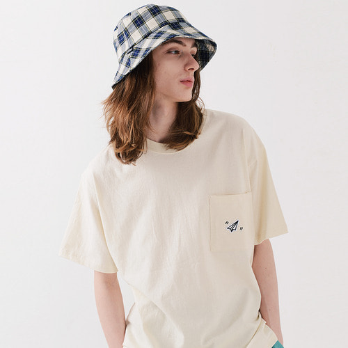 PAPER ICON POCKET TSHIRTS (IVORY)