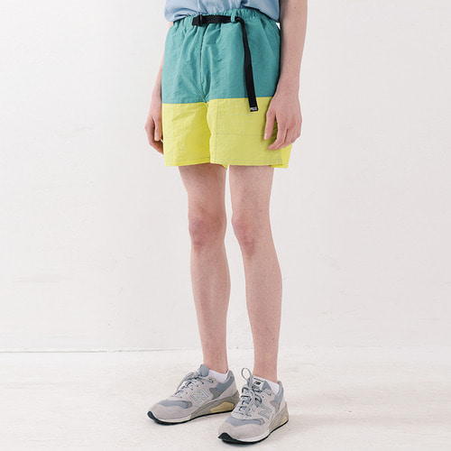NYLON COLOR SHORTS (GREEN)