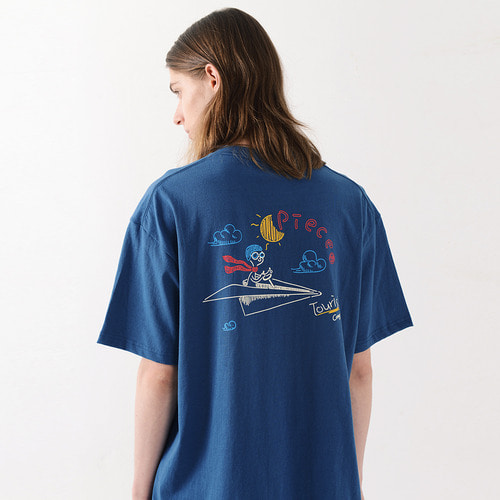 FLYINGMAN TSHIRTS (NAVY)