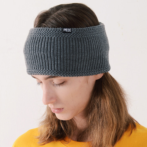 WIDE HAIR BAND (CHARCOAL)