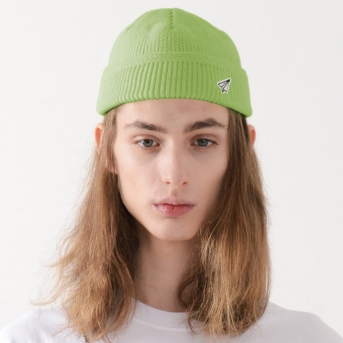PAPER ICON WATCH CAP (LIME)