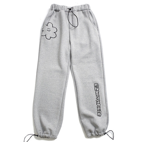 [EZwithPIECE] DAISY SWEAT PANTS (GREY)