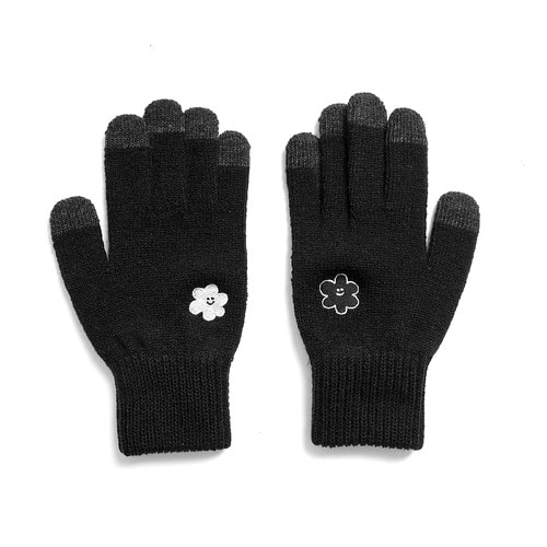 ★선물박스★[1/26 예약배송] [EZwithPIECE] DAISY SMART GLOVES (BLACK)