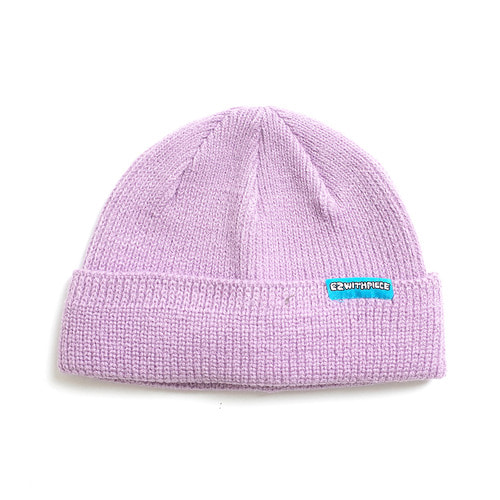 [EZwithPIECE] WATCH CAP (PURPLE)