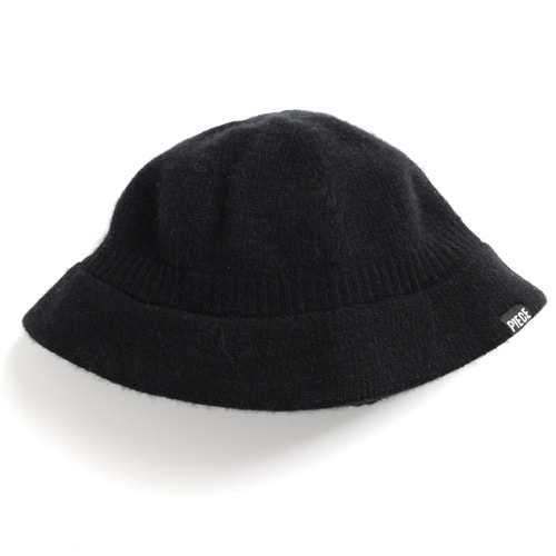CASHMERE BUCKET HAT (BLACK)