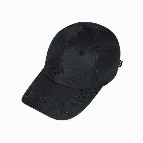 NYLON TWILL BALL CAP (BLACK)