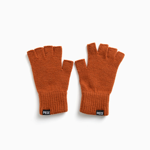 ★선물박스★ CASHMERE FINGERLESS GLOVES (BROWN)