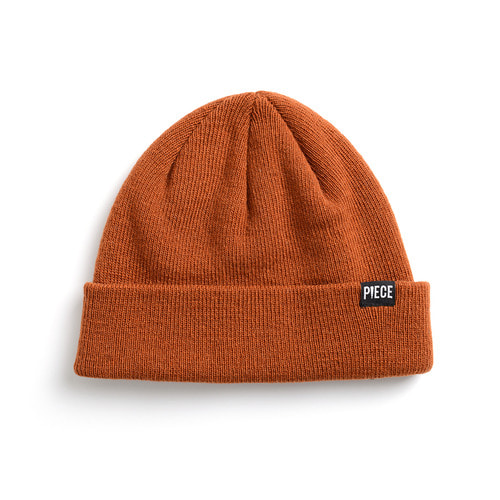 CASHMERE SHORT BEANIE (BROWN)