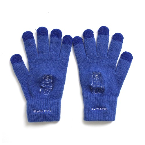 ★선물박스★ [EZwithPIECE] POLAR BEAR SMART GLOVES (BLUE)