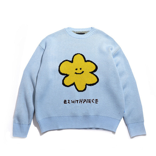 [EZwithPIECE] DAISY OV KNIT SWEATER (SKY BLUE)