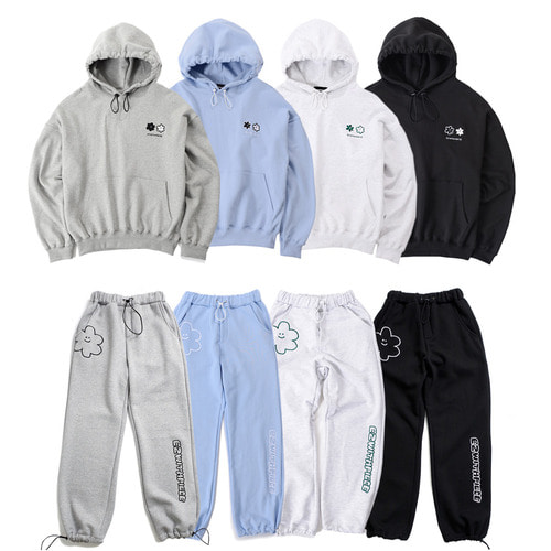[EZwithPIECE] DAISY SWEAT SET UP (4COLORS)