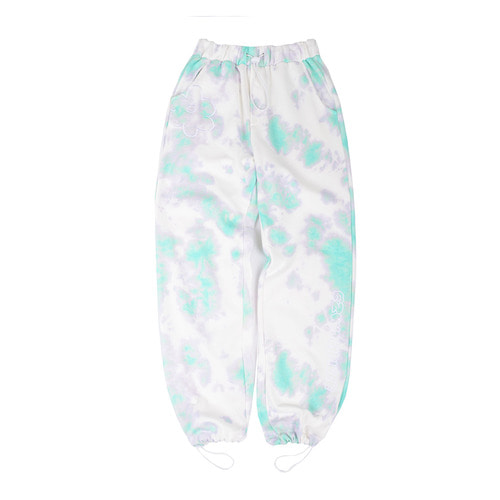 [5/21예약배송][EZwithPIECE] TIE-DYE DAISY SWEAT PANTS (MINT)